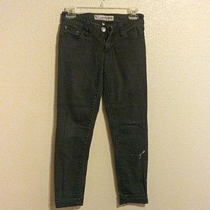 Bullhead faded black skinny jeans